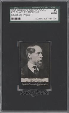 1901 Ogden's Guinea Gold - Tobacco [Base] #75 - Charles Dickens [SGC AUTHENTIC]