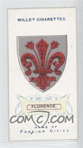1912 Wills Arms of Foreign Cities - Tobacco [Base] #30 - Florence