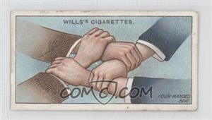1913 Wills First Aid - Tobacco [Base] #22 - Four-handed Seat [Good to VG‑EX]