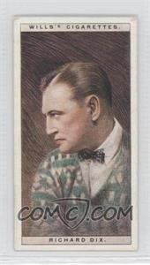 1928 Wills Cinema Stars Series 1 - Tobacco [Base] #11 - Richard Dix [Good to VG‑EX]