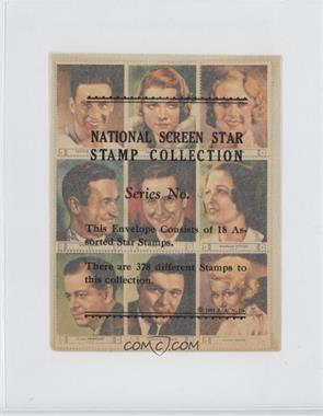 1932 National Screen Star Stamp Collection - Complete Sheets #FOX1 - George O'Brien, Peggy Shannon, Sally Eilers, Will Rogers, Raul Roulien, Marian Nixon, Alan Dinehart, William Pawley, Greta Nissen, Violet Neming, Minna Gombell, Ralph Morgan, Weldon Heyburn, Elissa Landi, Joan Bennett, Violet Heming, J.M. Kerrigan, Janet