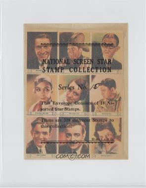 1932 National Screen Star Stamp Collection - Complete Sheets #RKO2 - Ricardo Cortez, Tom Keene, Robert Woolsey, Dolores Del Rio, Jill Esmond, Richard Dix, Eric Linden, Lowell Sherman, Arline Judge, Robert Armstrong, Laurence Olivier, Bert Wheeler, Joel McCrea, William Boyd, Ann Harding, Edna May Oliver, Harriet Hagman, Roc [Good to VG‑EX]
