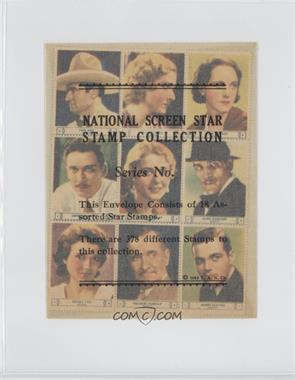1932 National Screen Star Stamp Collection - Complete Sheets #UNIV1 - Tom Mix, Mae Clarke, Rose Hobart, Leon Waycoff, Gloria Stuart, Boris Karloff, Sidney Fox, Charlie Murray, James Flavin, Lucile Browne, Slim Summerville, Eddie Gribbon, June Clyde, Arletta Duncan, Claudia Dell, Tala Birell, George Sidney, Lew Ayres [Good to VG‑EX]