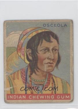 1933 Goudey Indian Gum - R73 - Series of 192 #29 - Osceola