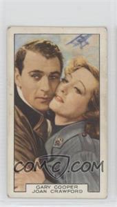 1935 Gallaher Film Partners - Tobacco [Base] #10 - Gary Cooper, Joan Crawford [GoodtoVG‑EX]