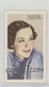 1935 Gallaher Stars of Screen & Stage - [Base] - Green Back #25 - Maureen O'Sullivan [PoortoFair]
