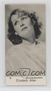 1939 Bridgewater Film Stars 7th Series - [Base] #19 - Elizabeth Allan [GoodtoVG‑EX]