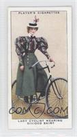 Lady Cyclist Wearing Divided Skirt