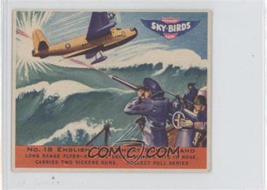 1941 Goudey Sky-Birds Chewing Gum - R137 #18 - English, The Short Sunderland