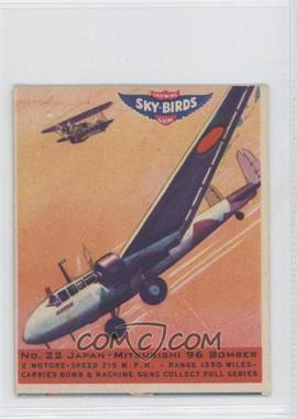1941 Goudey Sky-Birds Chewing Gum - R137 #22 - Japan - Mitsubishi 96 Bomber