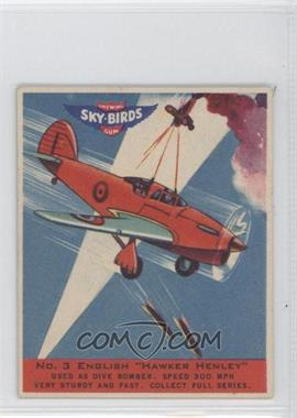 "1941 Goudey Sky-Birds Chewing Gum - R137 #3 - English ""Hawker Henley"""