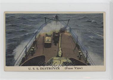 1942 Cameron Sales Warships - R169 #41 - U.S.S. Destroyer (Prow View) [PoortoFair]