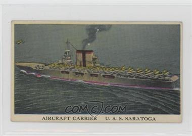 1942 Cameron Sales Warships - R169 #44 - U.S.S. Saratoga [Poor to Fair]