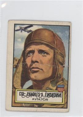 1952 Topps Look 'n See - [Base] #30 - Col. Charles A. Lindbergh