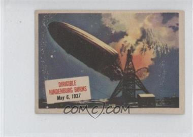 1954 Topps Scoops - [Base] #20 - Dirigible Hindenburg Burns