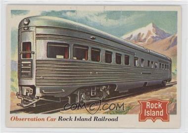 1955 Topps Rails and Sails - [Base] #77 - Observation Car