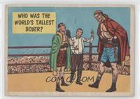 Who Was The World's Tallest Boxer? [Poor to Fair]