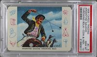 Argentine Gaucho Throwing Bola [PSA 10]