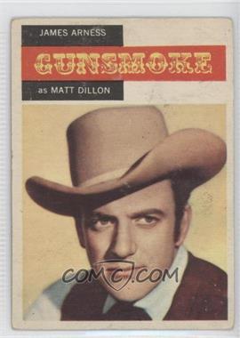 1958 Topps TV Westerns - [Base] #1 - Gunsmoke - James Arness as Matt Dillon [GoodtoVG‑EX]