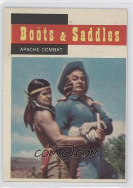 1958 Topps TV Westerns - [Base] #67 - Boots & Saddles - Apache Combat