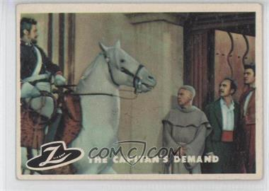 1958 Topps Walt Disney's Zorro! - [Base] #44 - The Captain's Demand