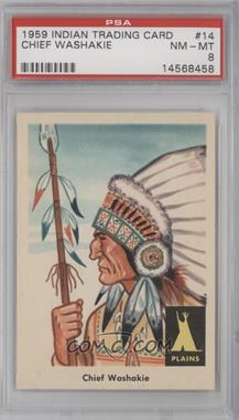 1959 Fleer Indian Trading Cards - [Base] #14 - Chief Washakie [PSA 8]