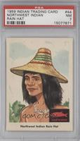 Northwest Indian Rain Hat [PSA 7]