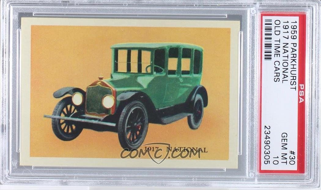 1959 Parkhurst Old Time Cars - [Base] #30 - 1917 National [PSA 10 ...