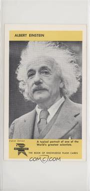 1960 Ed-U-Cards The Book of Knowledge Flash Cards - [Base] #15B - Albert Einstein