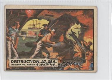 1962 A&BC Civil War News - [Base] #10 - Destruction at Sea [GoodtoVG‑EX]