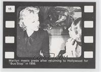 Marilyn meets press after returning to Hollywood for