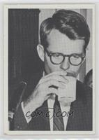 Robert F. Kennedy...Takes time out for refreshment