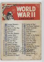 World War II [Poor]