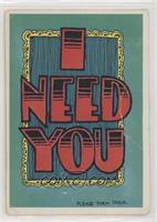 I Need You [PoortoFair]