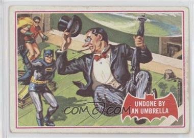1966 Topps Batman A Series (Red Bat Logo) - [Base] #30A - Undone by an Umbrella [Poor to Fair]