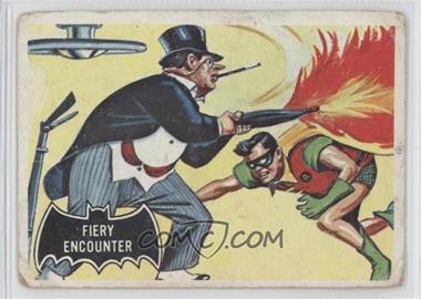 1966 Topps Batman Black Bat - [Base] #19 - Fiery Encounter