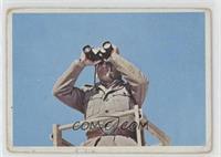 The Nazi sentry gazed out over the desert. [PoortoFair]