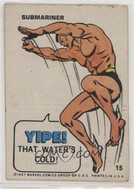 1967 Philadelphia Marvel Stickers - [Base] #15 - Submariner [GoodtoVG‑EX]