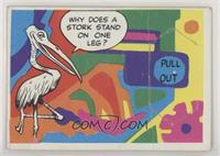 Door Cards - Why does a stork stand on one leg? [PoortoFair]