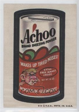 1973-74 Topps Wacky Packages Series 5 - [Base] #N/A - Achoo