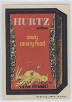 Hurtz Crazy Canary Food [NoneGoodtoVG‑EX]