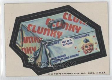 1974 Topps Wacky Packages Series 10 - [Base] #CLUN - Clunky [Good to VG‑EX]