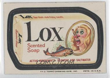 1974 Topps Wacky Packages Series 10 - [Base] #LOX - Lox [GoodtoVG‑EX]