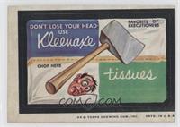 Kleenaxe Tisssues