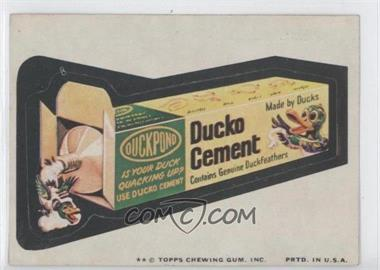 1974 Topps Wacky Packages Series 9 - [Base] #DUCK - Ducko Cement