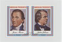 James Monroe, Andrew Johnson