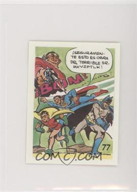 1976 DC Super Hero Stickers Venezuelan - [Base] #77 - Batman, Robin, Superman [GoodtoVG‑EX]