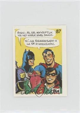 1976 DC Super Hero Stickers Venezuelan - [Base] #87 - Batman, Superman, Robin