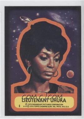 1976 Topps Star Trek - Stickers #6 - Lieutenant Uhura
