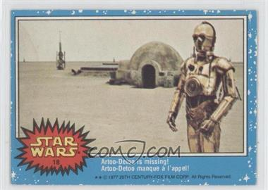 1977 O-Pee-Chee Star Wars - [Base] #18 - Artoo-detoo Is Missing!